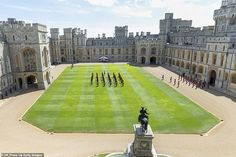 The proceedings took place in the presence of The Queen in the Quadrangle, where the Chang... Buckingham Palace Garden Party, Queen's Official Birthday, Autumn Phillips, Non Commissioned Officer, Lance Corporal, Duke Of York, Kingdom Of Great Britain, Windsor Castle, British Monarchy