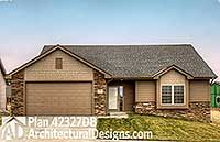 Ranch House Plan with Cathedral Family Room