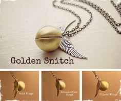 $10 Golden Snitch Necklace at VeryJane.com #harry #potter