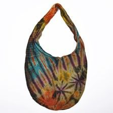 This tie dye hobo bag is the ultimate hippie handbag to add bohemian style and charm to any outfit! These huge reversible hippie bags are ideal for carrying groceries or as a general tote. $20.00