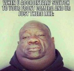 Accidentally Switch to your Front Camera Look - Cell Phone Picture Fail ---- hilarious jokes funny pictures walmart humor fails by bai xiangqian Youre My Person, Humor Grafico, Belly Laughs, I Love To Laugh, Laughing So Hard, Funny Cute, Just In Case, I Laughed, Funny Jokes