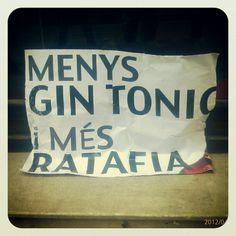 Menys Gintònic i més Ratafia!