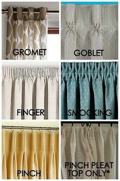 Wonderful bedroom drapes - check out our piece for a lot more ideas! Cute Curtains, Types Of Curtains, Beautiful Curtains, Curtains With Blinds, Window Curtains, Bedroom Drapes, Blackout Curtains, Bedrooms, Drapery Styles
