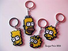 los Simpson con hama beads, hama mini, perler, etc Perler Beads, Mini Hama Beads, Hama Mini, Perler Bead Art, Fuse Beads, Pearler Bead Patterns, Bead Loom Patterns, Perler Patterns, Beading Patterns