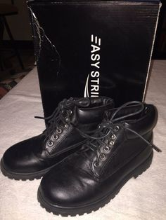 48a826ea1fd2 Easy Strider Big Kid size 3 Black ankle boots w  box worn once  fashion