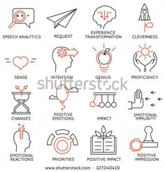Vector set of 16 icons related to business management, strategy, career progress…