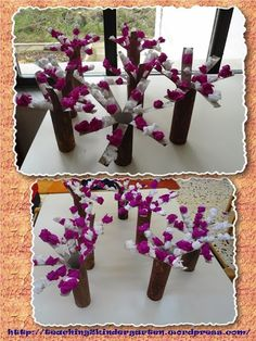 αμυγδαλιά Mothers Day Crafts, Crafts For Kids, Kindergarten, Projects To Try, Preschool, Spring Summer, Table Decorations, Winter, Anna