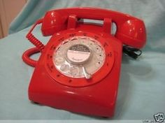 New Vintage Red Old style rotary Telephone Phone work