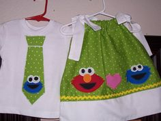 sesame street bday outfit.. Gordy and sisters outfits