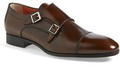 $625, Upton Double Monk Strap Shoe by Santoni. Sold by Nordstrom. Click for more info: http://lookastic.com/men/shop_items/153250/redirect