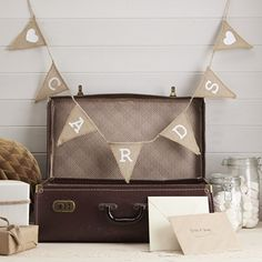 Ginger Ray Cards Postbox Hessian Burlap Bunting - Wedding or Party Decoration Banner - Vintage Affair Ginger Ray http://www.amazon.co.uk/dp/B00KPUT6C8/ref=cm_sw_r_pi_dp_w.rUtb1CR1H6SRR4