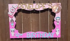Birthday, Baby Shower, Wedding, Lol Surprise Dolls or any theme you want Party Photo Prop Frame by LaraGirlsDesigns on Etsy https://www.etsy.com/listing/559268154/birthday-baby-shower-wedding-lol