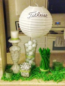 Easy DIY golf decorations! Golf Party Decorations for your golf baby shower!