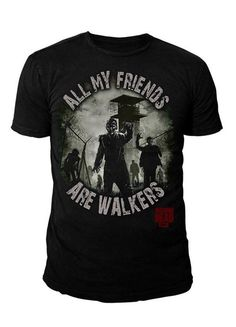 The Walking Dead - Herren T-Shirt - All my Friends are Walker (Schwarz) (S-XL) (L)