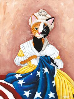 Kitty Ross Sewing the American Flag - Ryan Conners - Kilkenny Cats