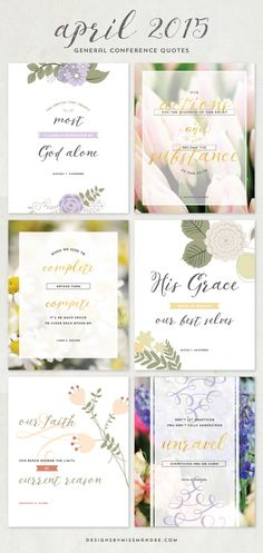 April 2015 General Conference Quotes - Designs By Miss Mandee. These are a few of my favorite quotes from the most recent session of General Conference!