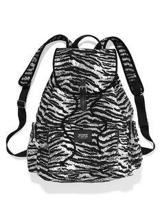 PINK- sequin zebra backpack