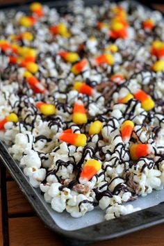 White Chocolate Candy Corn Popcorn