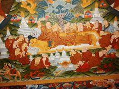 Buddha's Life Thangka detail