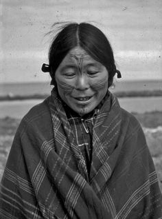 Inuit woman near Eskimo Point, Northwest Territories - circa 1948