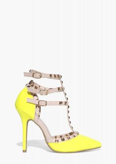 Adora Lime Pumps in Lime | Necessary Clothing