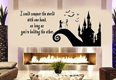 Arts Jack and Sally Love Story Nightmare before Christmas beautiful Family Room living room Decoration or window decal sticker Approximately 40X19 inches black -- Learn more by visiting the image link. (This is an affiliate link)