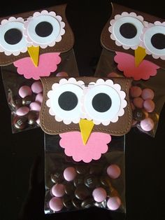 Owl party favors... very easy to make and so cute!.