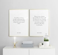 These two typography prints look perfect together in Scandinavian interior. We have posters and prints for all different interior, www.desenio.com