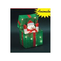 Animated Snowman Gift Box Christmas Decoration