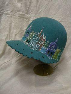 """Шляпка """"Любимый город"""" - головные уборы,шляпка,стильный аксессуар,авторские головные уборы"""