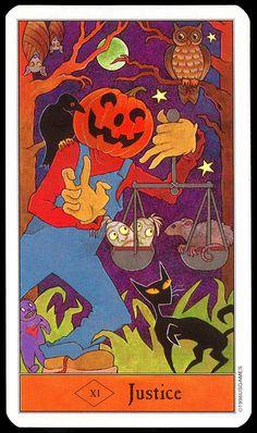 Halloween Tarot: Justice