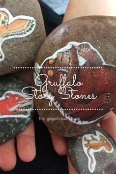 "Gruffalo story stones from @gingerbread_mum #Pintorials ""ASTOUNDING!"" ;)"