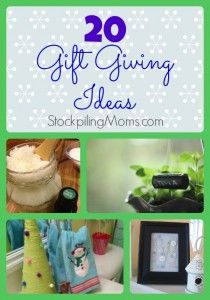 20 Gift Giving Ideas for the Holidays!