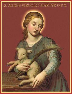 Santa Inés, una, virgen y mártir