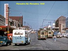Maroubra RdMaroubra,in southeastern Sydney in the late 🌹 Holden Australia, Sydney Australia, Sydney Beaches, Sydney City, As Time Goes By, Light Rail, My Childhood Memories, Public Transport, Historical Photos