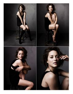 Seated pose by the beautiful Marion Cotillard.