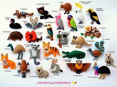 AUSTRALIAN ANIMALS felt magnets price per 1 item make your