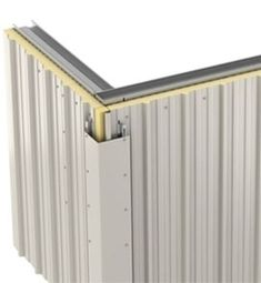 roof sandwich panel Exterior Wall Cladding, Cladding Panels, House Cladding, Cladding Systems, Roof Panels, Sips Panels, Timber Architecture, Steel Trusses, Metal Facade