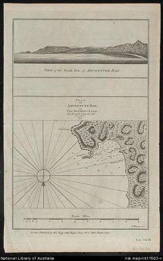 Bowen, T., active 1749-1790. Plan of Adventure Bay on Van Diemens Land Lat 43021.20.S Long. 147025 E Var 5015'E 1777 [cartographic material]