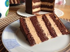 Chocolate Filling, Chocolate Cake, Beautiful Cakes, No Bake Cake, Vanilla Cake, Tiramisu, Panna Cotta, Deserts, Food And Drink