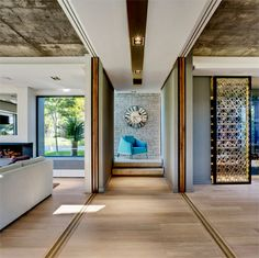 Distribution of the living areas in a luxury home - Contemporary and Luxury House Interior Design in Cape Town Interior Design Magazine, Home Interior Design, Interior Styling, Design Interiors, Modern Interiors, Concrete Interiors, Interior Ideas, Luxury Homes Interior, Best Interior