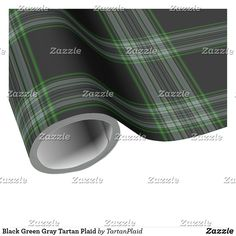 Wrap up your gifts with Tartan wrapping paper from Zazzle. Gift Wrapping Paper, Tartan Plaid, Green And Grey, Holiday Gifts, Christmas Holidays, Wraps, Stickers, Black, Design
