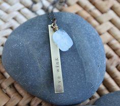 love wins . a soul mantra necklace by lizlamoreux on Etsy, $33.00
