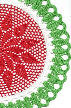 PHOTO ONLY ~ Christmas Crochet doily lace doilies
