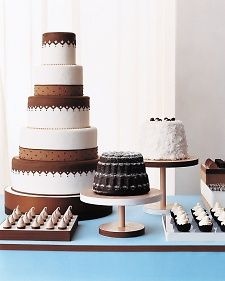 MSW and Ron Ben-Israel debuted the concept of wedding dessert buffets more than 10 years ago, and the detail still maintains personality and creativity today. Love the meringues.