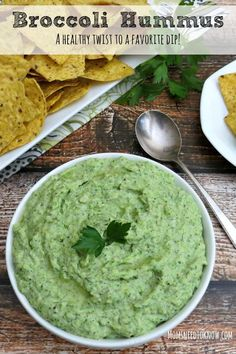 This smooth and creamy broccoli hummus recipe is a great way to add to more vegetables to your diet. A Healthy Twist To a Favorite Dip Lunch Recipes, Cooking Recipes, Healthy Recipes, Dip Recipes, Watermelon Sorbet Recipes, Sauces, Easy Pizza Dough, Hummus Recipe, Recipe For Mom