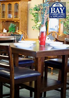 This Finely Crafted Wood Bistro Table And Chairs With Leather Cushions Add Such A Modern Elegance