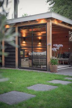 Outdoor Patio Designs, Modern Patio, Outdoor Pergola, Outdoor Garden Rooms, Outdoor Living, Back Garden Design, Outside Room, Garden Deco, Garden Buildings