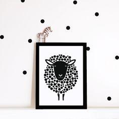 Monochroom kwekerij kunst aan de muur kwekerij door PaperandPickles