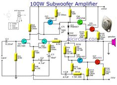 Subwoofer Circuit Diagram | 120 Best Power Subwoofer Circuits Images In 2019 Powered Subwoofer